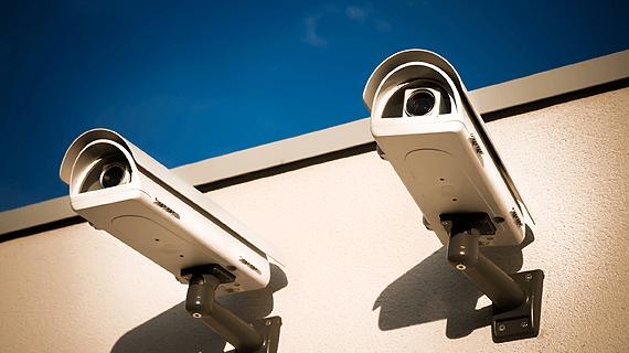 two surveillance cameras